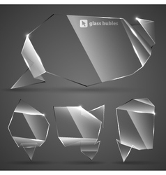 Abstract glass bubbles for speech vector image vector image