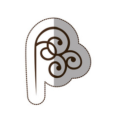 brown decorative swirl icon vector image vector image