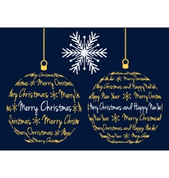 christmas ball with text vector image