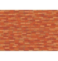 Elegant realistic red brick wall background vector image