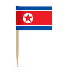 flag of north korea flag toothpick vector image
