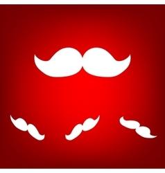 Moustache icon set Isometric effect vector image
