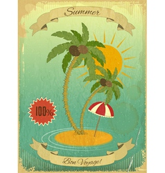 Retro Vintage Grunge Summer Vacation Postcard vector image vector image
