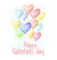 saint valentine s day hand drawn card vector image