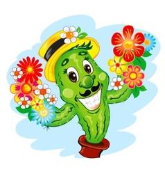 the cartoon Cactus vector image