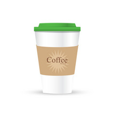 a coffee cup with logo vector image
