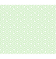 Abstract geometric background green and white vector