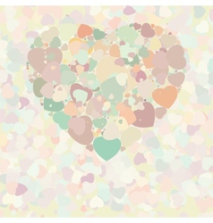 Abstract vintage heart vector image