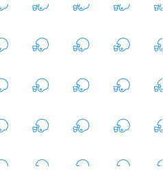 american football helmet icon pattern seamless vector image