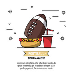 american football tournament infographic vector image