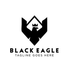 black eagle logo design inspiration vector image