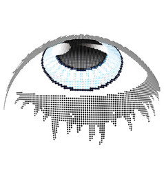 Blue eye halftone vector