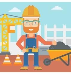 Builder showing thumbs up vector