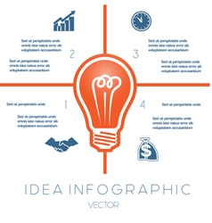 Business concept light bulb infographic 4 vector