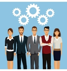 business people teamwork collaboration vector image