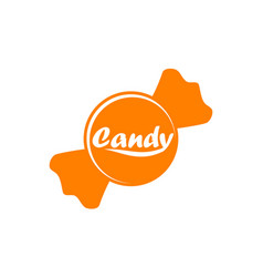 candy logo design template vector image