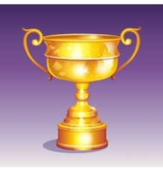 Cartoon of a golden cup vector image