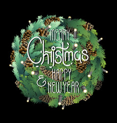 Christmas coniferous design vector