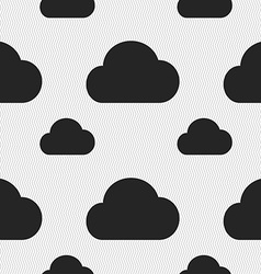 Cloud icon sign Seamless pattern with geometric vector