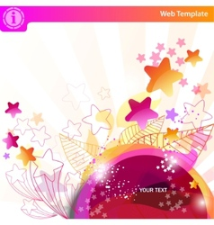 colorful bubbles and stars vector image