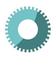 Colorful silhouette of pinion icon with half vector