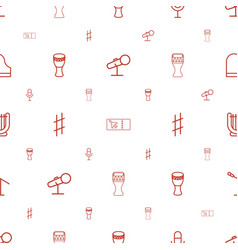Concert icons pattern seamless white background vector