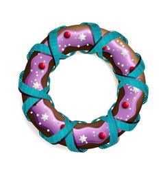 cookie stylized christmas wreath vector image