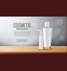 cosmetic bottle poster marketing ads vector image