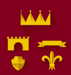 Design of heraldic symbols and elements vector image