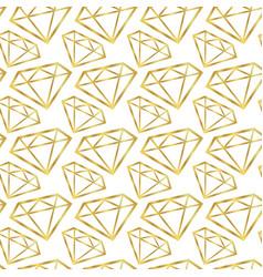 Diamonds seamless pattern girly background vector