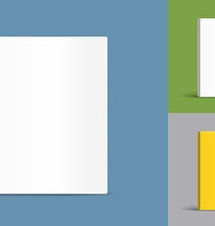 Different blank book covers template vector