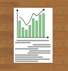 Document with chart up vector