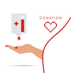 donation symbol vector image