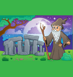 Druid theme image 3 vector