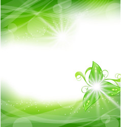 Eco friendly background with green leaves vector
