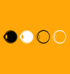 Eyeball black and white set icon vector