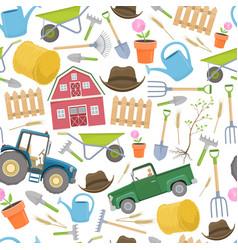 Farming agricultural seamless vector