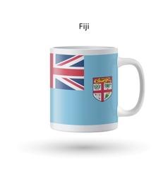 Fiji flag souvenir mug on white background vector