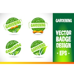Gardening Badge Logo vector image