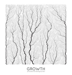 Generative branch growth pattern square vector