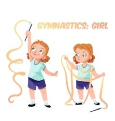 Girl doing gymnastics vector