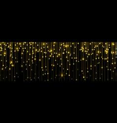 Golden rain gold glitter particles falling vector