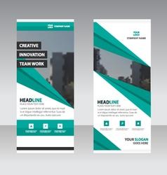 Green Business Roll Up Banner flat design template vector image