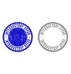 Grunge introductory offer textured stamp seals vector