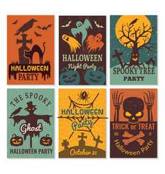 halloween cards greeting cards invitation vector image