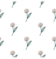 Hand drawn dandelion seamless pattern isolated on vector