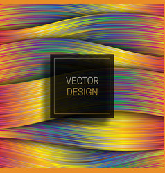 Holographic layer background with black and gold vector
