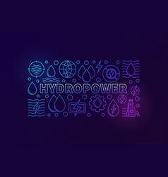Hydropower creative banner vector