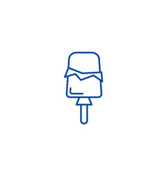 ice cream popsicle line icon concept ice cream vector image