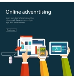 Internet Advertising vector image